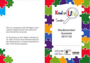 Studierendenausweis Kinder-Uni Senden